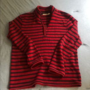 L.L. Bean Red &Blue Stripped Sweater